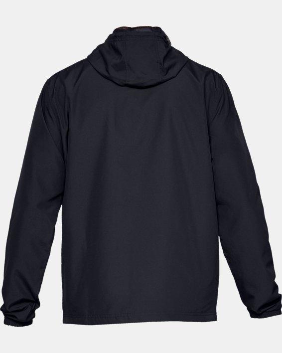 Men's UA Sportstyle Wind Jacket, Black, pdpMainDesktop image number 5