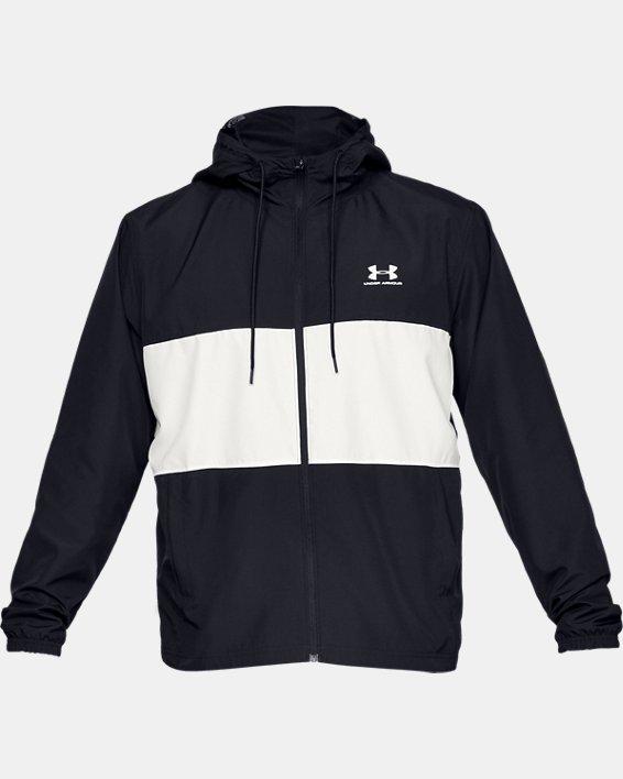 Men's UA Sportstyle Wind Jacket, Black, pdpMainDesktop image number 4