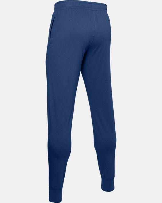 Men's UA Sportstyle Cotton Graphic Joggers, Blue, pdpMainDesktop image number 5