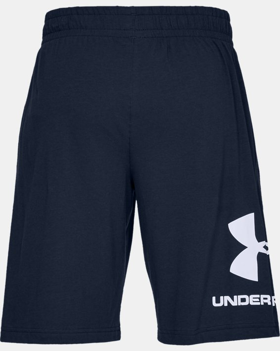 Men's UA Sportstyle Cotton Graphic Shorts, Navy, pdpMainDesktop image number 4