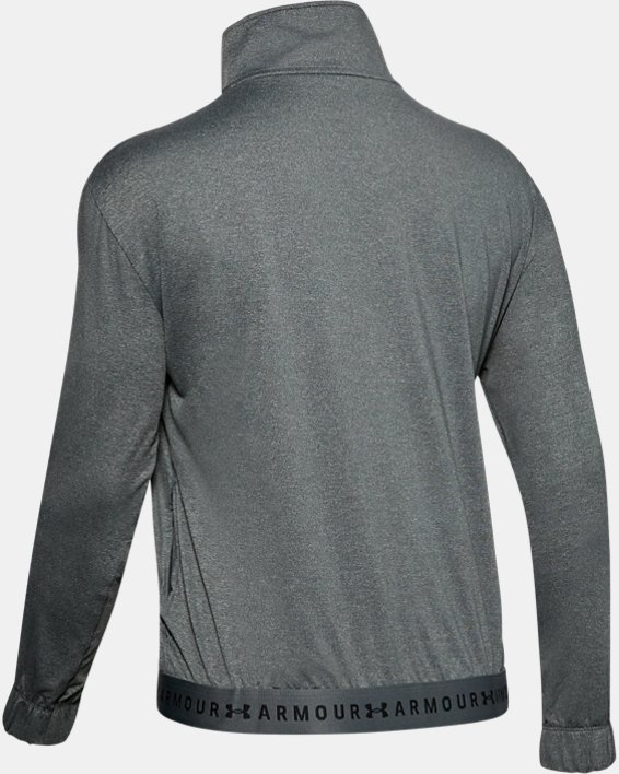 Women's HeatGear® Full Zip, Gray, pdpMainDesktop image number 5