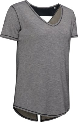 Under Armour UA Women/'s Athlete Recovery Short Sleeve T-Shirt Grey New