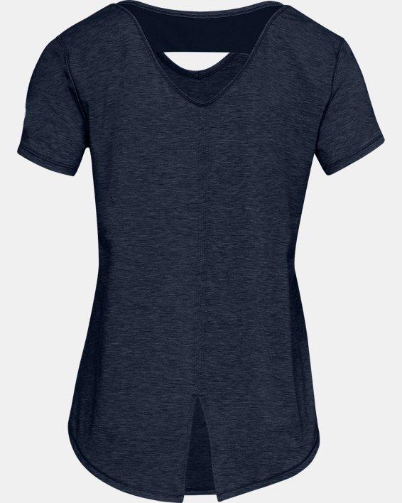 Women's UA RECOVER™ Sleepwear Short Sleeve, Navy, pdpMainDesktop image number 4