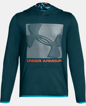 New to Outlet Boys' Armour Fleece® Logo Hoodie  1  Color Available $30.99