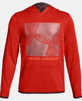 Boys' Armour Fleece® Logo Hoodie  1  Color Available $40