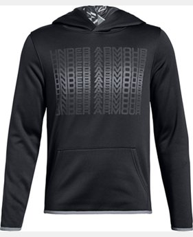 Boys' Armour Fleece® Branded Hoodie  1  Color Available $40