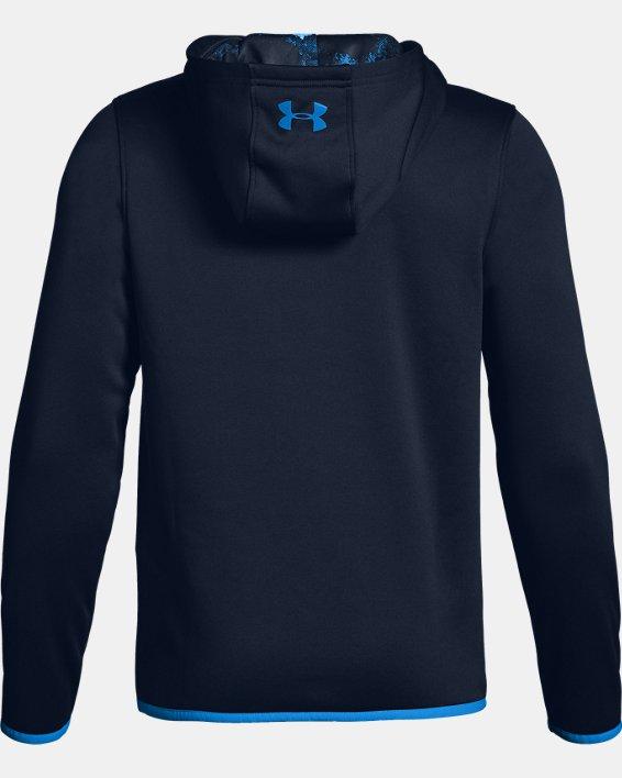 Boys' Armour Fleece® Branded Hoodie, Navy, pdpMainDesktop image number 1