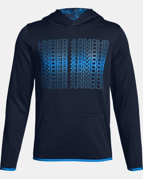 Boys' Armour Fleece® Branded Hoodie, Navy, pdpMainDesktop image number 0