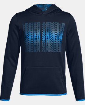 Boys' Armour Fleece® Branded Hoodie LIMITED TIME ONLY 1  Color Available $37.5