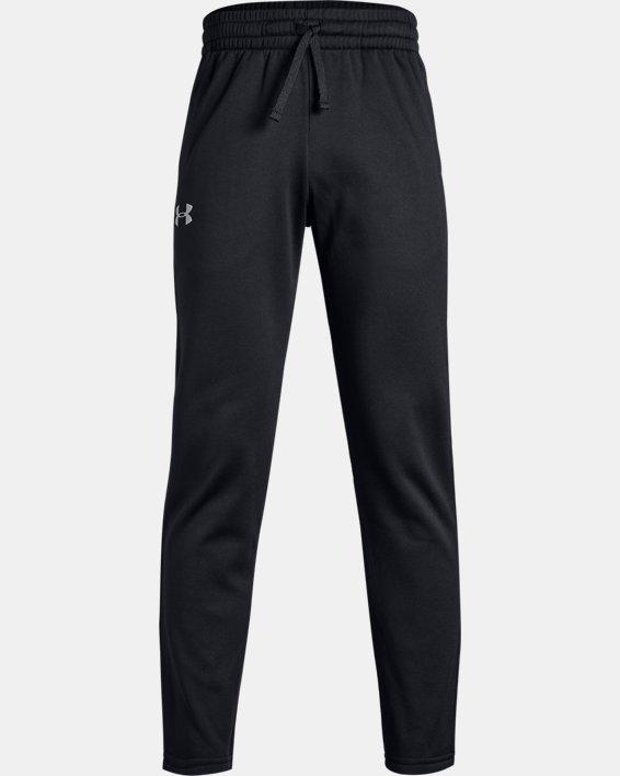 Boys' Armour Fleece® Pants, Black, pdpMainDesktop image number 4