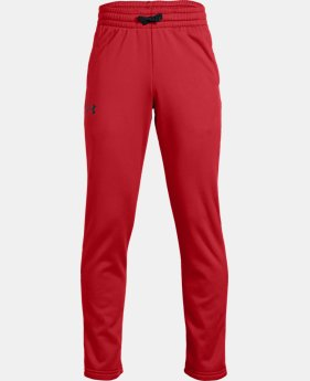 Boys' Armour Fleece® Pants LIMITED TIME ONLY 5  Colors Available $35