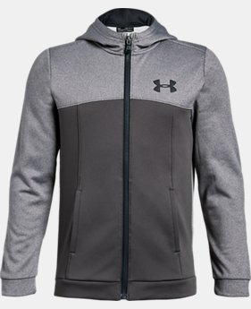 New to Outlet Boys' Armour Fleece® Full Zip Hoodie  2  Colors Available $45