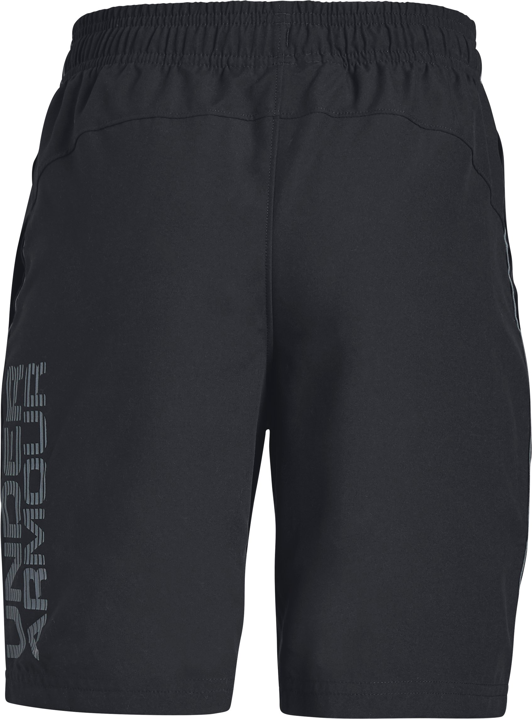 Boys' UA Woven Graphic Shorts, Black ,