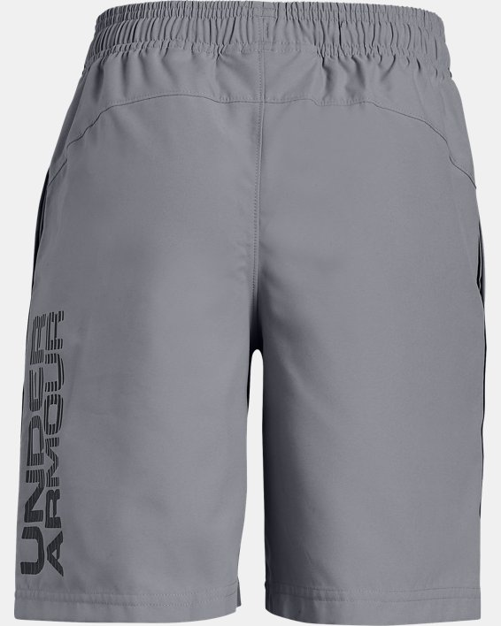 Boys' UA Woven Graphic Shorts, Gray, pdpMainDesktop image number 1
