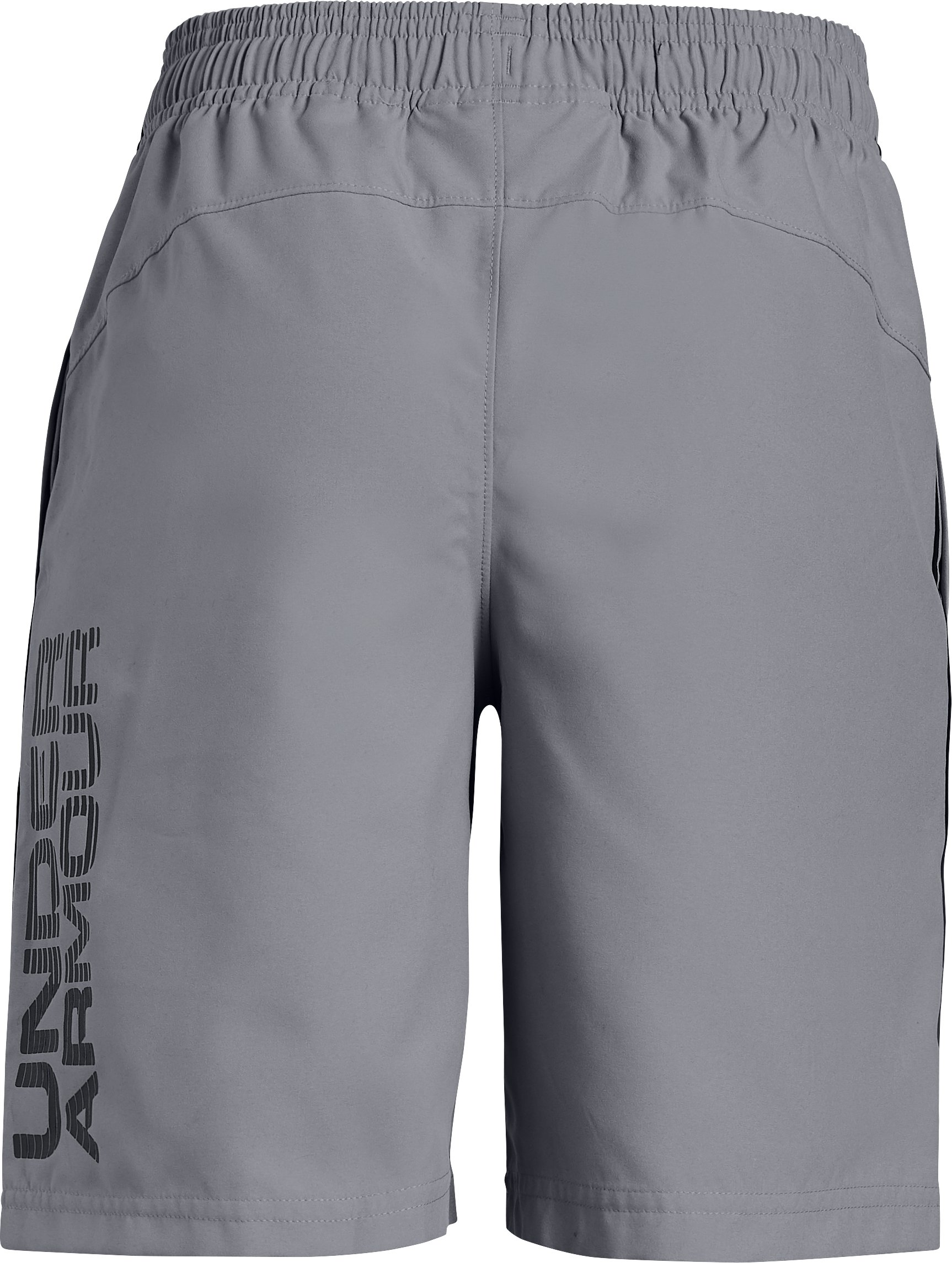 Boys' UA Woven Graphic Shorts, Steel,