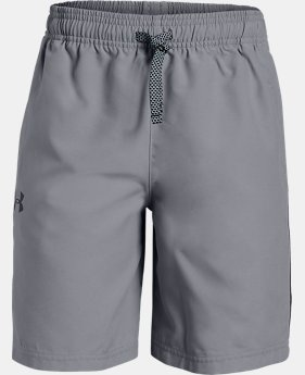 New Arrival  Boys' UA Woven Graphic Shorts  2  Colors Available $25