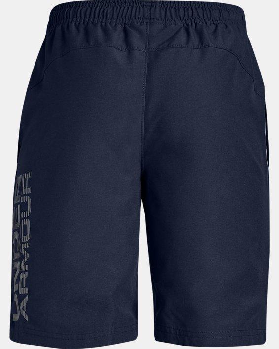 Boys' UA Woven Graphic Shorts, Navy, pdpMainDesktop image number 1