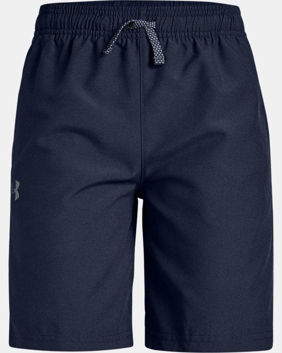 Boys' UA Woven Graphic Shorts, Navy, pdpMainDesktop image number 0
