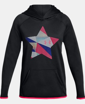 New Arrival  Girls' Armour Fleece® Print Star Hoodie  1  Color Available $50