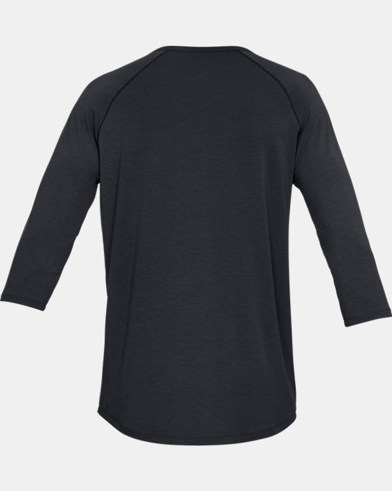 Men's UA RECOVER™ Sleepwear Henley, Black, pdpMainDesktop image number 4