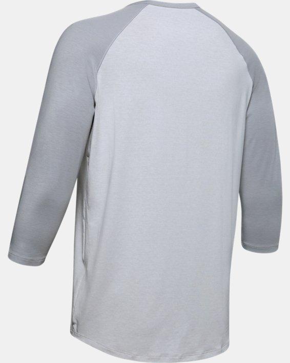 Men's UA RECOVER™ Sleepwear Henley, Gray, pdpMainDesktop image number 5