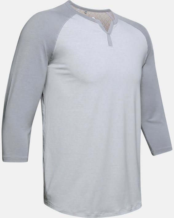 Men's UA RECOVER™ Sleepwear Henley, Gray, pdpMainDesktop image number 4
