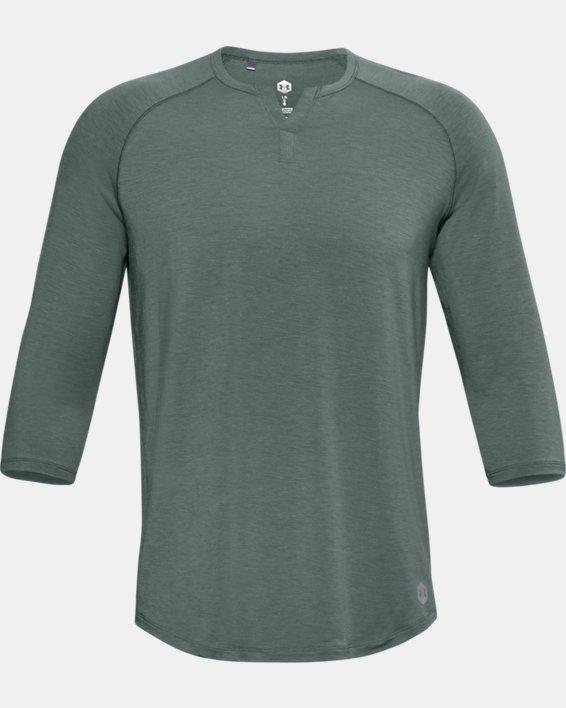 Men's UA RECOVER™ Sleepwear Henley, Blue, pdpMainDesktop image number 2