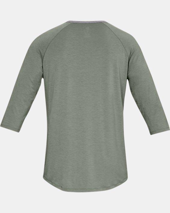 Men's UA RECOVER™ Sleepwear Henley, Green, pdpMainDesktop image number 4