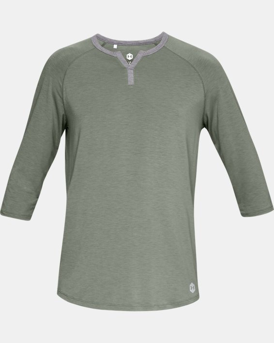 Men's UA RECOVER™ Sleepwear Henley, Green, pdpMainDesktop image number 3