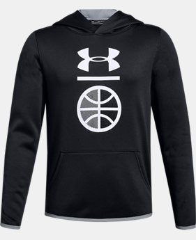Boys' Armour Fleece® Sport Logo Hoodie LIMITED TIME ONLY 1  Color Available $30