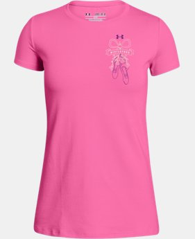 New Arrival Girls' UA Mistletoes Graphic T-Shirt  1 Color $19.99