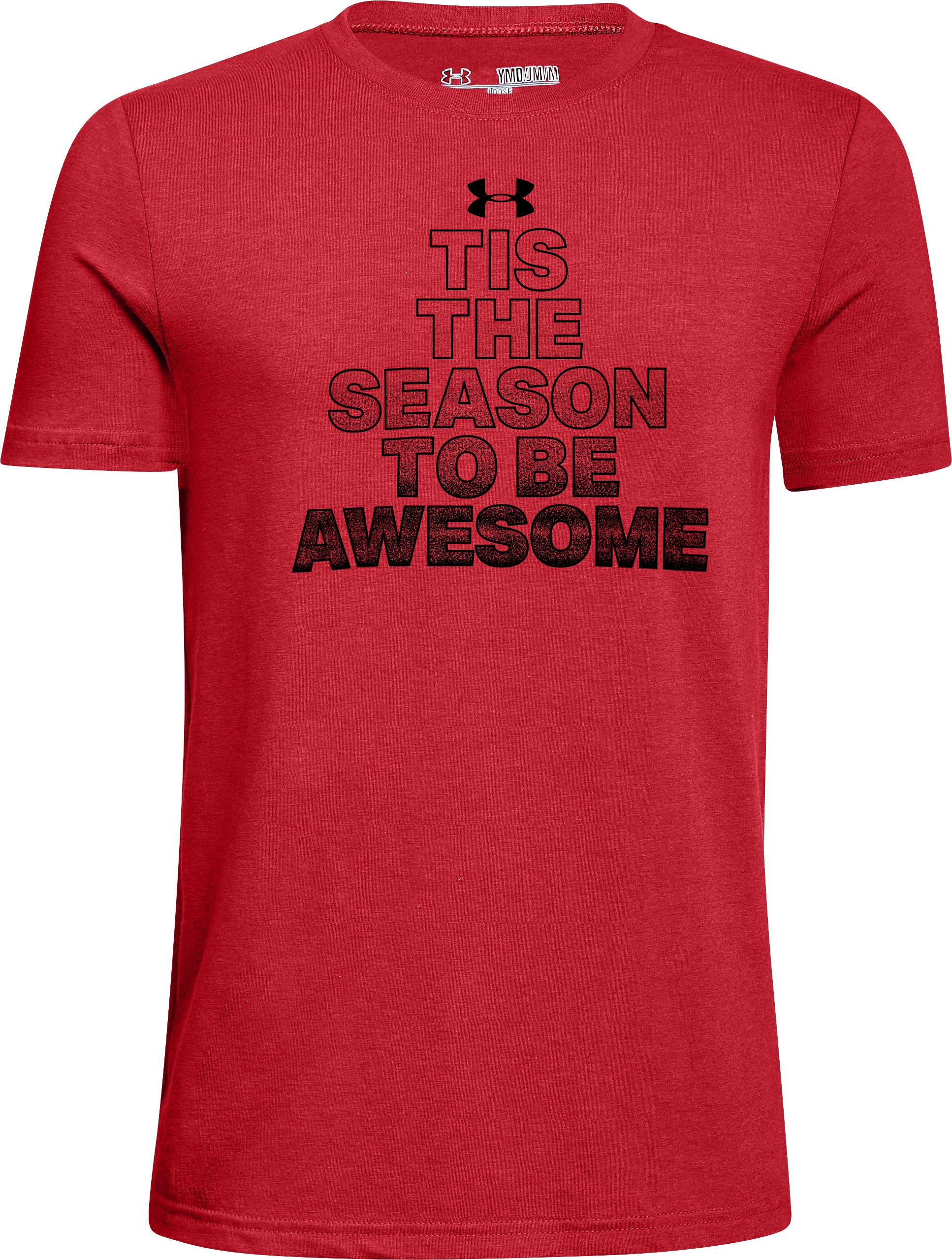 Boys' UA Be Awesome T-Shirt, Red, zoomed