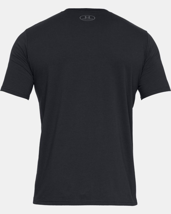 Men's UA Boxed Sportstyle Short Sleeve T-Shirt, Black, pdpMainDesktop image number 4