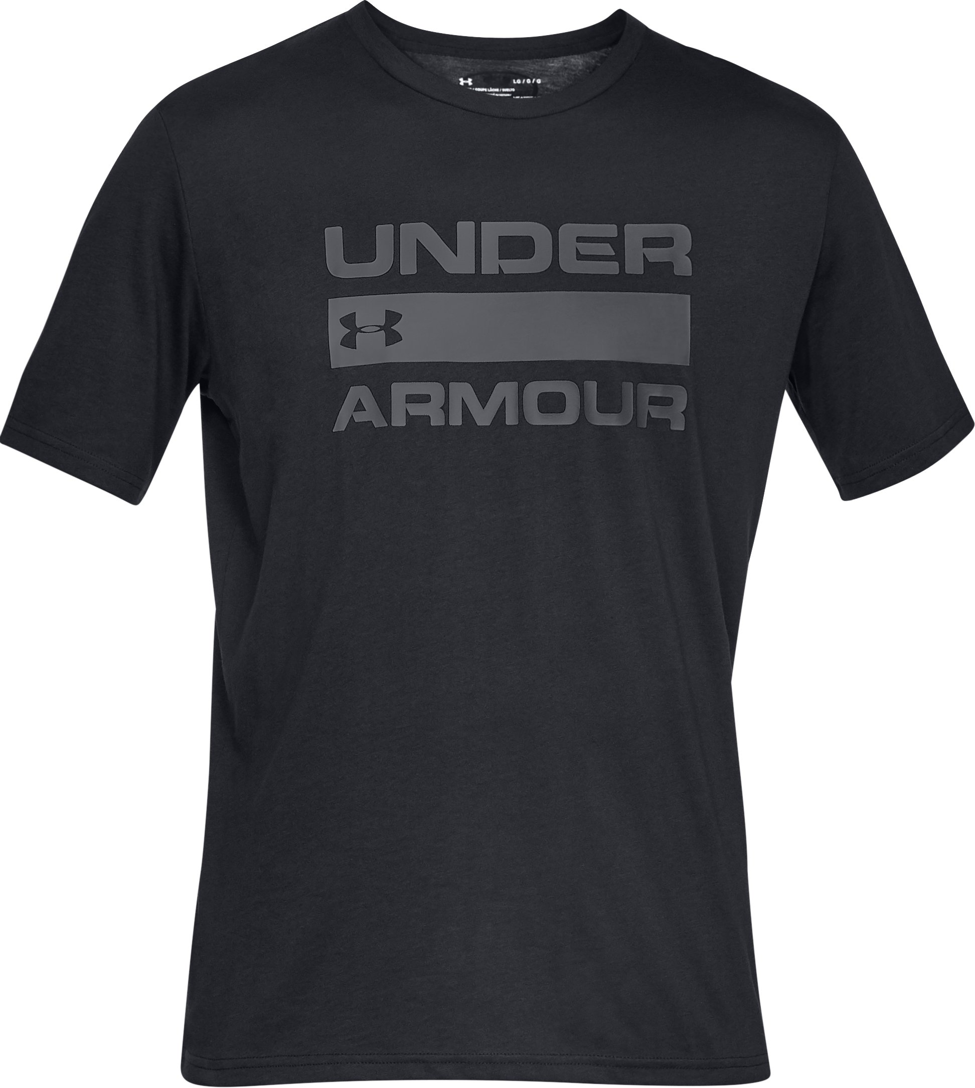 Men's UA Team Issue Wordmark Short Sleeve, Black ,