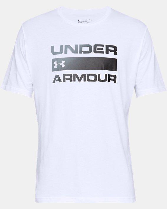 Men's UA Team Issue Wordmark Short Sleeve, White, pdpMainDesktop image number 3