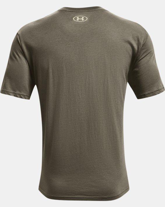 Men's UA Team Issue Wordmark Short Sleeve, Green, pdpMainDesktop image number 5