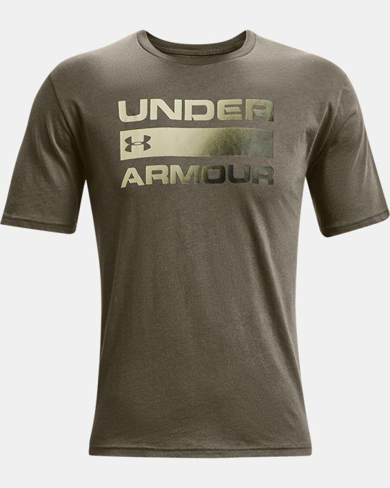 Men's UA Team Issue Wordmark Short Sleeve, Green, pdpMainDesktop image number 4