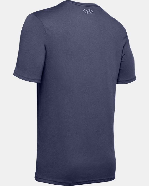 Men's UA Team Issue Wordmark Short Sleeve, Blue, pdpMainDesktop image number 5