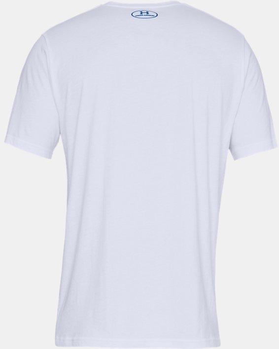 Men's UA Big Logo Short Sleeve T-Shirt, White, pdpMainDesktop image number 3