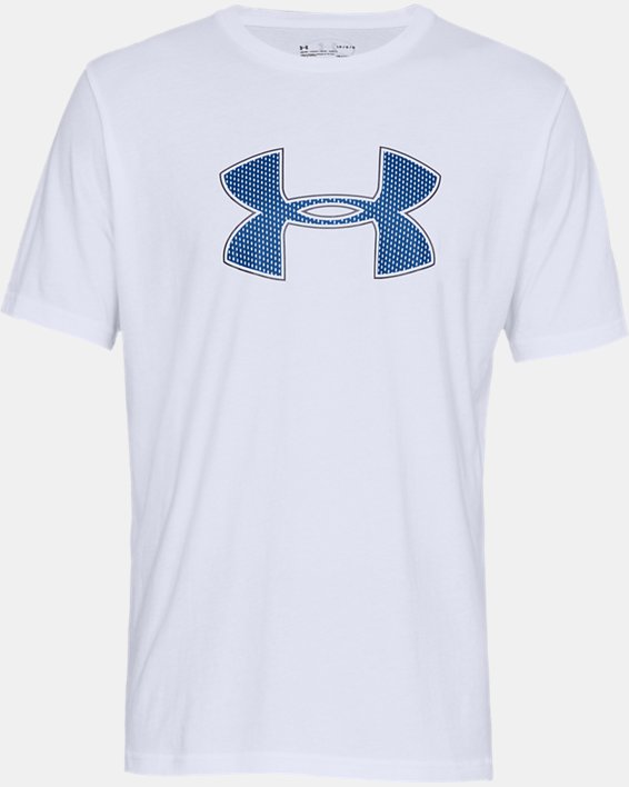 Men's UA Big Logo Short Sleeve T-Shirt, White, pdpMainDesktop image number 2