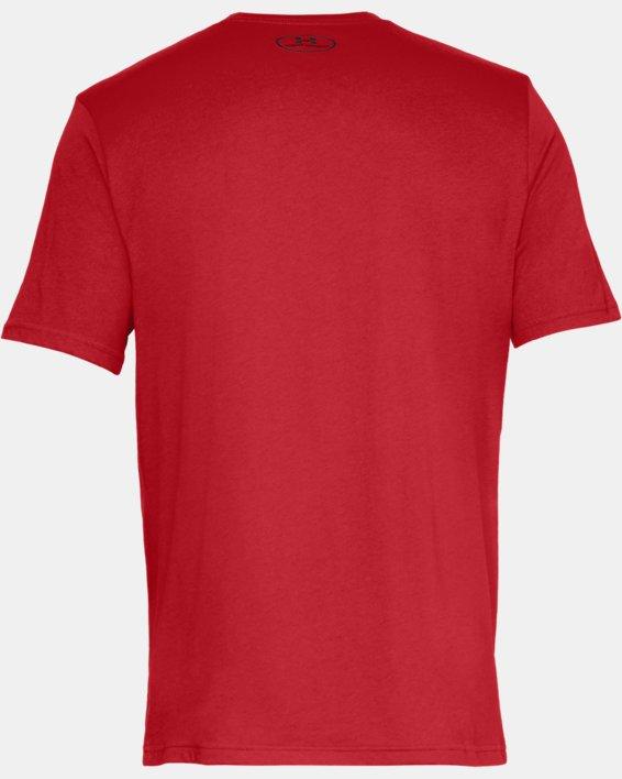 Men's UA Big Logo Short Sleeve T-Shirt, Red, pdpMainDesktop image number 4