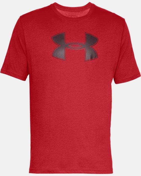 Men's UA Big Logo Short Sleeve T-Shirt, Red, pdpMainDesktop image number 3