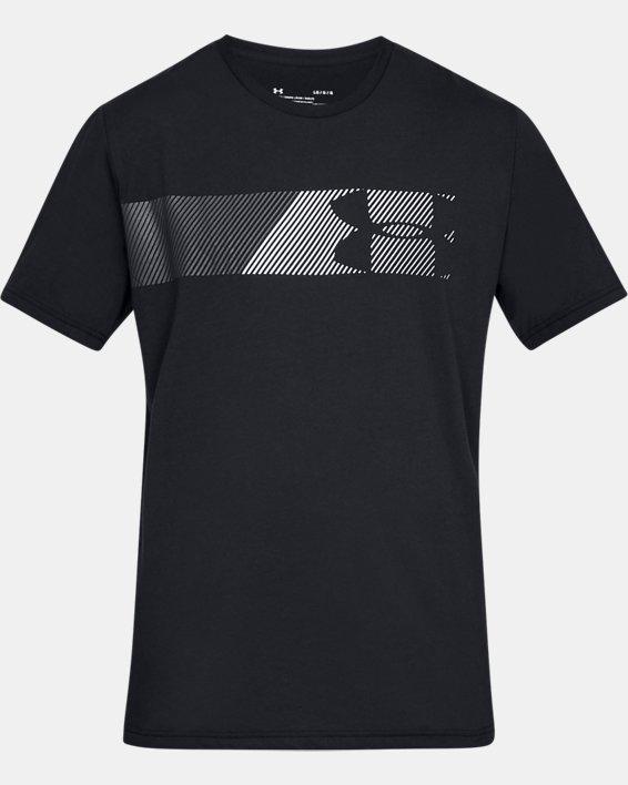 Men's UA Fast Left Chest Short Sleeve, Black, pdpMainDesktop image number 5