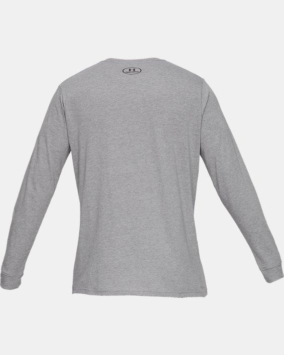 T-shirt à manches longues UA Sportstyle Left Chest pour homme, Gray, pdpMainDesktop image number 4