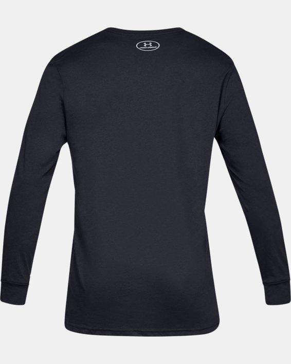 Men's UA Sportstyle Boxed Long Sleeve, Black, pdpMainDesktop image number 4