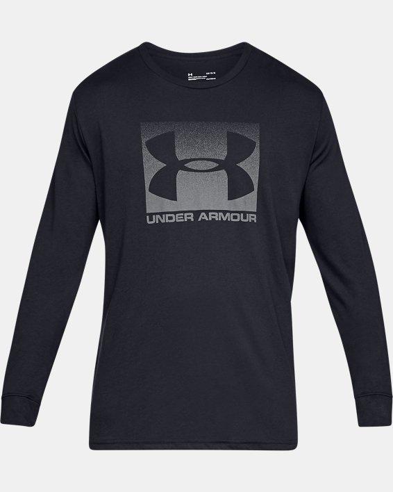 Men's UA Sportstyle Boxed Long Sleeve, Black, pdpMainDesktop image number 3