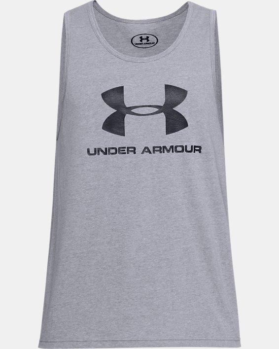 Débardeur UA Sportstyle Logo pour homme, Gray, pdpMainDesktop image number 3