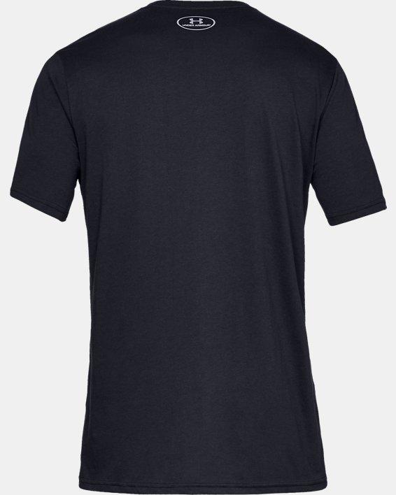 Men's UA Sportstyle Logo Short Sleeve, Black, pdpMainDesktop image number 6