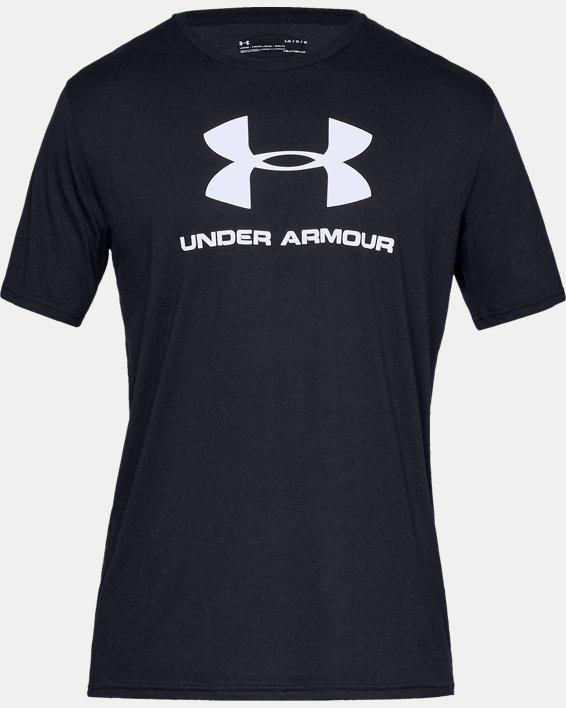 Men's UA Sportstyle Logo Short Sleeve, Black, pdpMainDesktop image number 5
