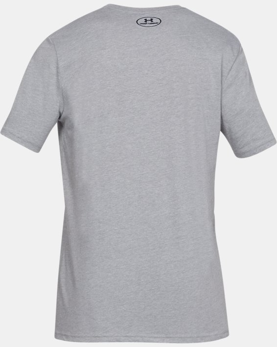 Men's UA Sportstyle Logo Short Sleeve, Gray, pdpMainDesktop image number 4
